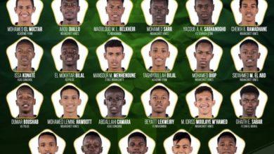 Photo of قائمة المنتخب الموريتاني للشباب في كأس العرب